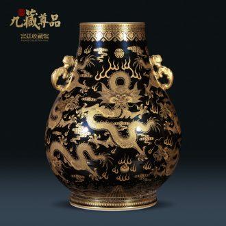 Nine Tibetan Buddha tasted qing qianlong jack sharply glaze the statue of jingdezhen porcelain vase, Kowloon Chinese style porch place
