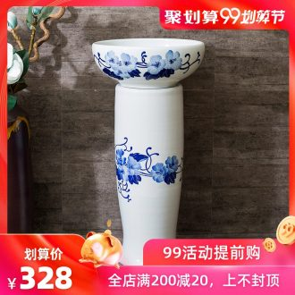 Rain spring sanitary toilet ceramic POTS one floor balcony stage basin lavatory basin that wash a face to wash your hands