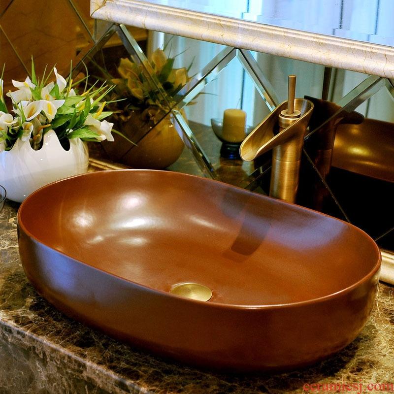 Ceramic lavabo stage basin art lavatory basin european-style elliptic toilet of wash basin basin that wash a face