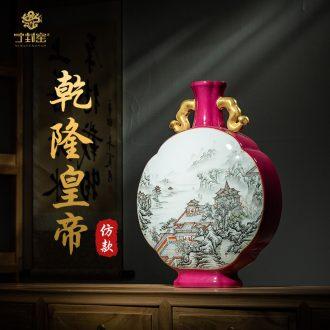 Better sealed kiln jingdezhen antique hand-painted ceramic vase furnishing articles sitting room the best ear bian floret bottle of bottle of Chinese art