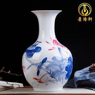 Jingdezhen ceramics hand-painted color bucket vase wine porch home decoration sitting room TV ark furnishing articles