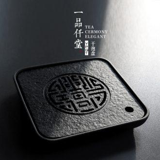 Yipin # $ceramic tea tray large Japanese dry tea tray household contracted sharply saucer stone water tea tray