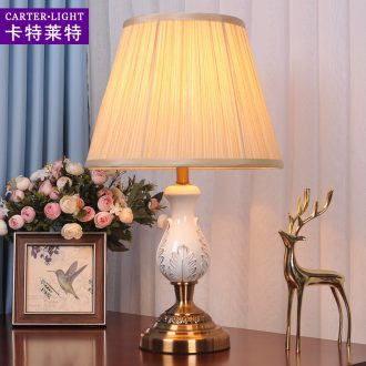 Ceramic lamp bedroom berth lamp contracted and contemporary American personality sitting room study creative sweet wedding decoration