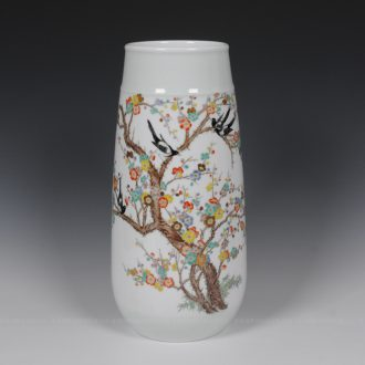 Mesa of jingdezhen ceramic vase household act the role ofing is tasted famous masterpieces hand-painted vases Zhang Bingxiang magpie vase