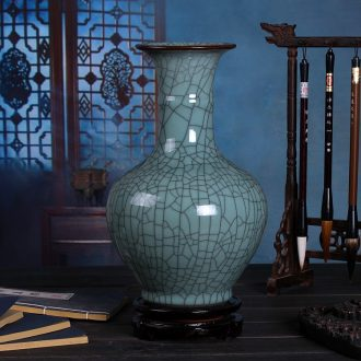Archaize of jingdezhen ceramics kiln on green glaze vase sitting room of Chinese style restoring ancient ways household act the role ofing is tasted furnishing articles