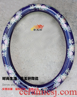 JingYuXuan jingdezhen ceramic sapphire blue peony flowers art frame basin supporting frames