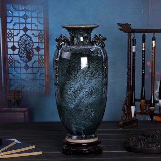 Three Yang kaitai, jingdezhen ceramics kiln rich ancient frame vase Chinese style restoring ancient ways sitting room adornment handicraft furnishing articles