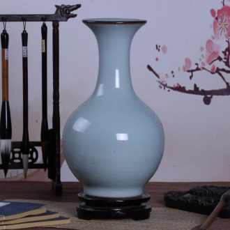 Archaize of jingdezhen ceramic kiln crack shadow blue glaze vase household adornment handicraft decoration furnishing articles sitting room