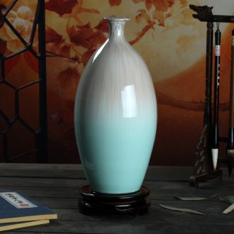 Art kiln porcelain vase decoration flower glaze olive bottles of modern home porcelain handicraft furnishing articles