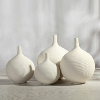 Contemporary and contracted fashion ceramic vase furnishing articles sitting room white jingdezhen home decoration crafts arranging flowers