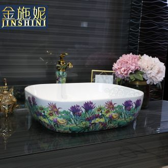 Gold cellnique ceramic art basin of modern stage color health small dish basin basin that wash a face to wash your hands