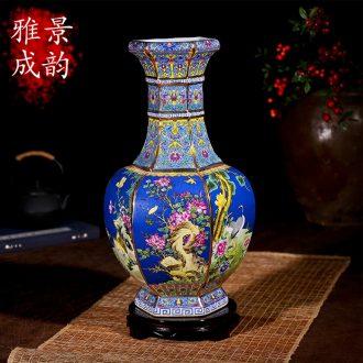 Jingdezhen ceramic kiln classical modern fashion antique vase furnishing articles housewarming flower arranging European floor living room