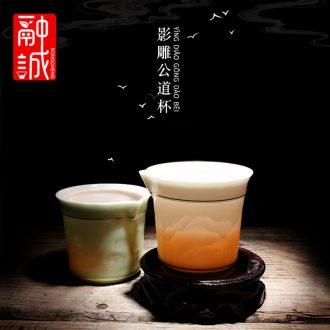 Melts if celadon graven images ceramics fair mug kung fu tea tea tea sea points large male zero with a cup of tea