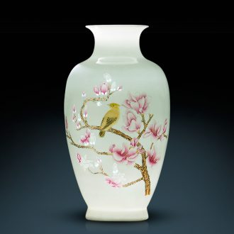 Jingdezhen ceramic vases, master of Chinese creative hand-painted famille rose flower arranging home sitting room porch decoration furnishing articles