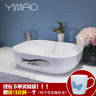 European square basin art ceramic stage basin sink bathroom sink lavatory basin