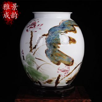 Big vase classical jingdezhen ceramics kiln sitting room ground suit China decoration vase TV ark