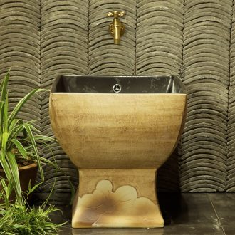 M beautiful ceramic art basin mop mop pool ChiFangYuan one-piece mop pool 42 cm diameter Indus
