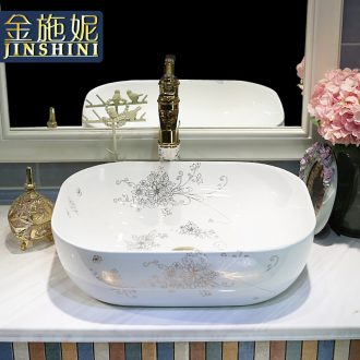 Gold cellnique ceramic wash basin stage basin of wash one ou the basin that wash a face white art basin of household balcony