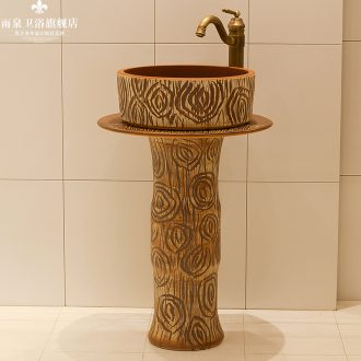The rain spring basin of jingdezhen ceramic column balcony sink pillar basin art toilet lavatory 3 of the basin that wash a face