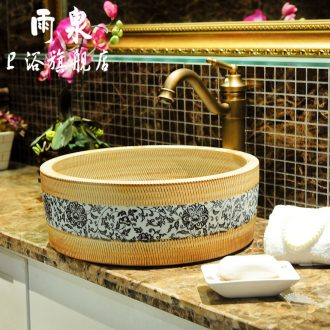 Spring rain of jingdezhen ceramic art stage basin round straight outdoor lavatory small family toilet lavabo