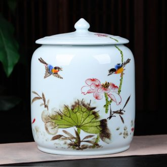 Jingdezhen ceramics pu 'er tea pot large household shadow celadon restoring ancient ways the tea pot gift box packaging tea cake