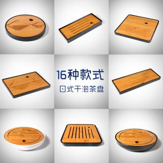 Jade art tea Japanese bamboo melamine dry tea plate imitation ceramic round kung fu tea tray tea sea small tray on sale