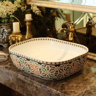 Jingdezhen ceramic stage basin art square more toilet stage basin sinks European archaize restoring ancient ways