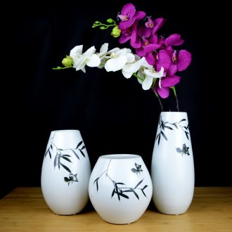 Jingdezhen ceramic hand-painted new Chinese vase creative living room TV cabinet dry flower arranging flowers home furnishing articles