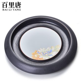 Thyme kung fu tang ceramics parts creative pot of bearing dry plate kiln stereo on flower process foster pot pot pad