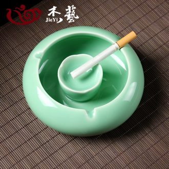 Jade art longquan celadon ceramic ashtray car ashtrays creative personality large-sized rust glaze ashtray restoring ancient ways