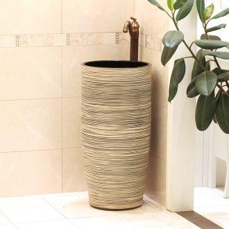 Jingdezhen ceramic basin art lavatory conjoined column column balcony sink bathroom sinks a whole column