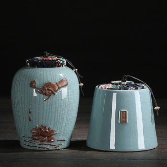 Chen xiang elder brother kiln portable size ceramic POTS violet arenaceous caddy seal storage and tea pot