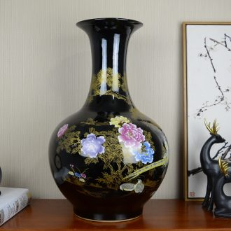 Jingdezhen ceramic large landing new Chinese style household vase the sitting room porch flower arranging, adornment is placed