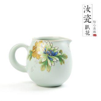 Innovation stereo on flower fair mug your kiln household kung fu tea tea tea ware ceramics slicing your porcelain Japanese sea points