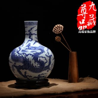 Jingdezhen ceramics imitation Ming xuande blue and white vase YunLongWen celestial home sitting room handicraft furnishing articles