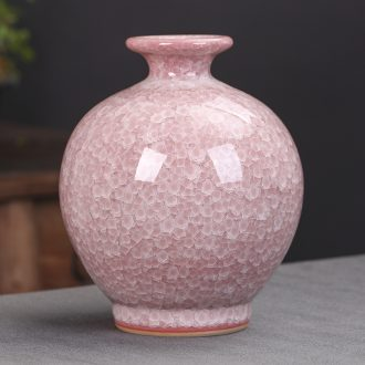 Jingdezhen ceramics craft idea crackle vases, flower arranging furnishing articles antique Chinese style living room decoration decoration