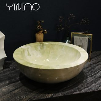 Million birds ceramic art basin stage basin sink European toilet lavatory basin of green marble table
