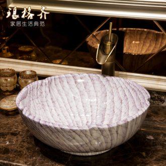 Koh larn lattice, jingdezhen ceramic toilet stage basin sink basin art lavatory petals Mr Wen