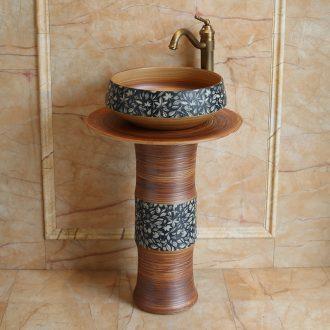 Jingdezhen ceramic art basin bathroom balcony sink the post European archaize home floor type lavatory