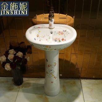 Gold cellnique art ceramic basin of pillar type column one balcony floor toilet lavabo wash basin