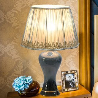 American contracted ceramic desk lamp light LED bedroom berth lamp sitting room study creative luxury decoration lamp T296