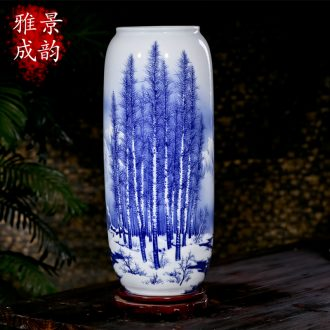 Jingdezhen ceramic hand-painted vases, new Chinese style blue and white vase landed POTS to restore ancient ways waist decoration furnishing articles