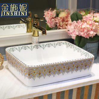 Gold cellnique installs the basin that wash a face ceramic wash basin bathroom sink basin bathroom basin on the rectangular basin