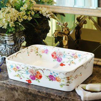 Spring rain ceramic basin stage basin square European art basin washing a face toilet lavabo wash gargle balcony