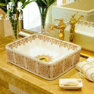 Spring rain jingdezhen ceramic lavabo suits rectangular phnom penh water lavatory art stage basin faucet