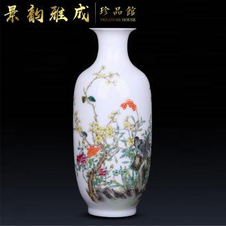 Jingdezhen ceramic hand-painted powder enamel vase place to live in the sitting room of new Chinese style flower arranging porcelain decorative arts and crafts