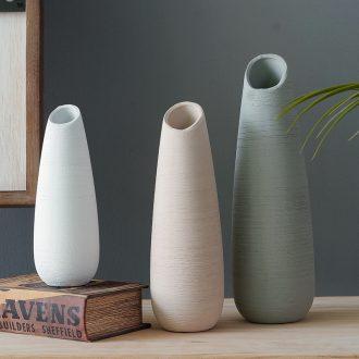 Like a flower Nordic ceramic biscuit firing floret bottle contracted dry flower vase sitting room adornment porcelain desktop furnishing articles