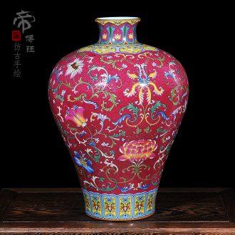 Jingdezhen ceramics high-end antique vase qianlong mei bottle of home sitting room process decoration as furnishing articles