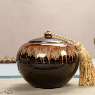 East west pot of ceramic tea caddy large sealed jar receive storage tanks of jun porcelain POTS kiln persimmon cans