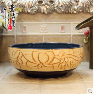 Jingdezhen JingYuXuan stage basin art basin the basin that wash a face basin ceramic high temperature kilns snowflakes glaze
